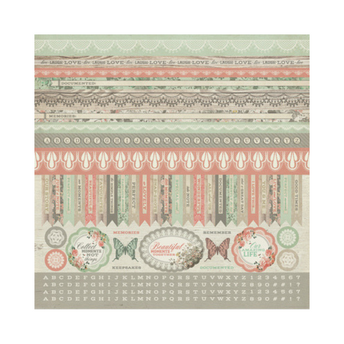 Kaisercraft 12x12 Sticker Sheet│Rustic Harmony Collection