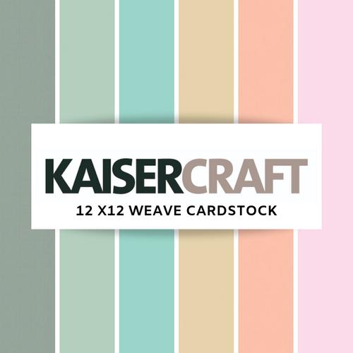 Kaisercraft 12x12│ Weave Cardstock