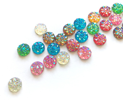 10mm Round Resin Rhinestones│25 mixed pack