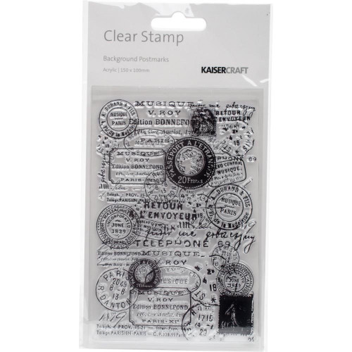 Background Postmarks Clear Stamp |Kaisercraft