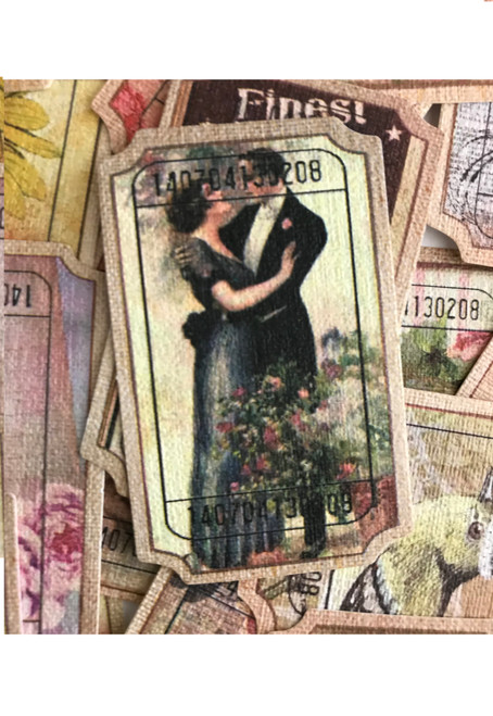 Vintage style journaling tickets 20pc