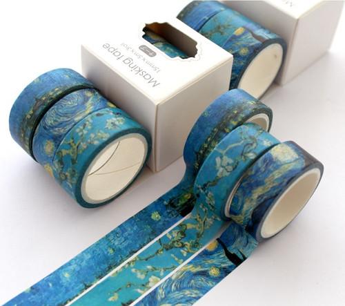 Washi Tape- Van Gogh Themed  ( 3 pc set )