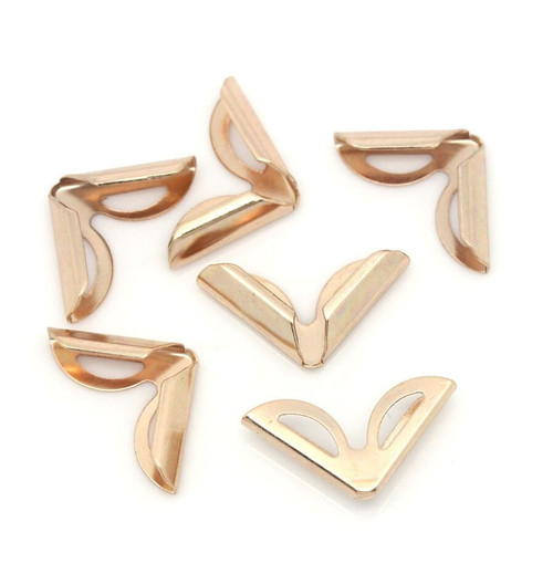 Metal Book Corner Protector (20pcs)│Rose Gold