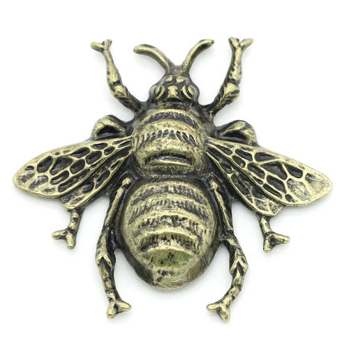 Antique Bronze Bee Metal Embellishment (5pcs)