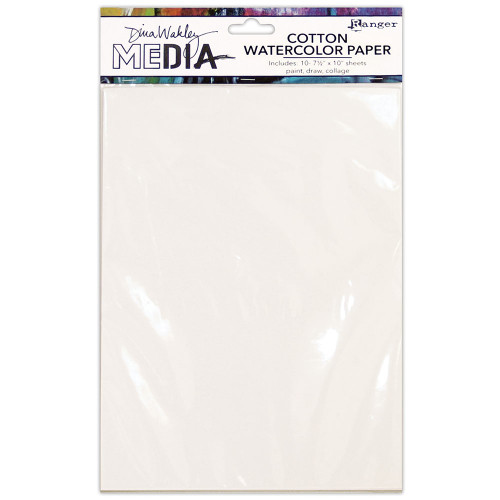Dina Wakley MEdia │Cotton Watercolour Paper (10 pk)