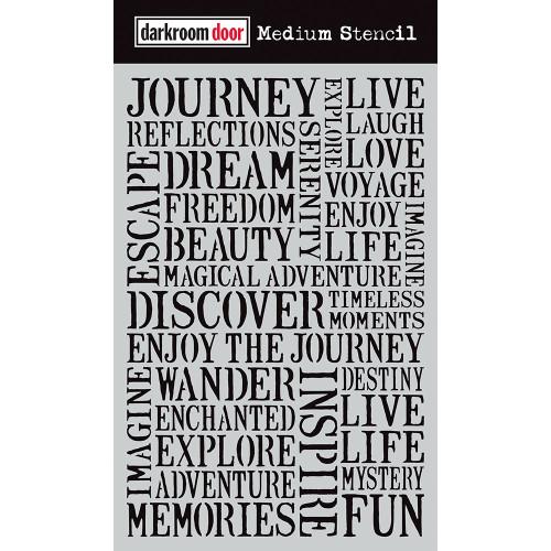 Medium Stencil - Journey