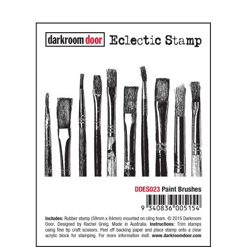 Eclectic Stamp- Paint Brushes