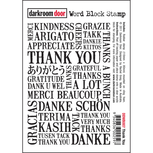 Word Block Stamp - Thank You