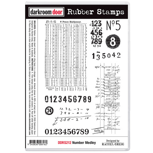 Rubber Stamp Set -  Number Medley