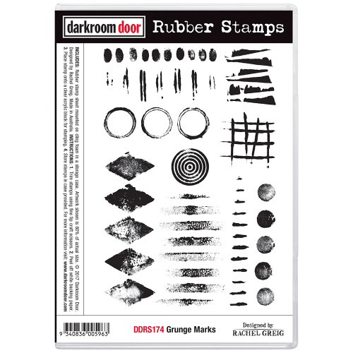 Rubber Stamp Set -  Grunge Marks