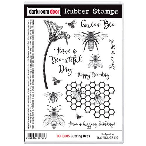 Rubber Stamp Set - Buzzing Bees