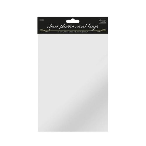 5 x 7in Self Sealing Clear Bags - (50pk)
