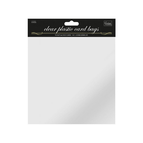 6 x 6in  Self Sealing Clear Bags - (50pk)
