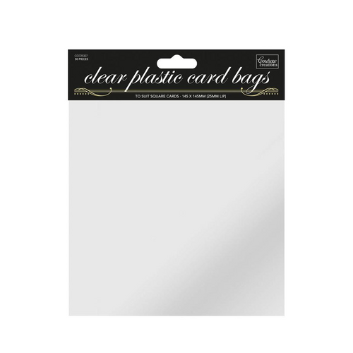 Square Self Sealing Clear Bags - (50pk)