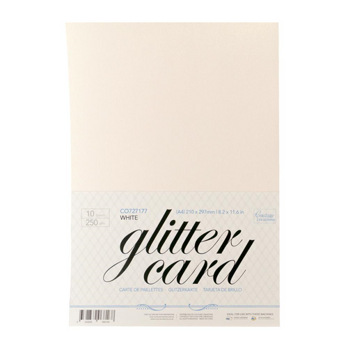 A4 Glitter Card (10 pp)│White
