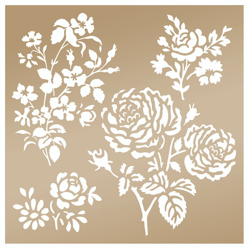 """Anna Griffin │Secret Garden 8x8"""" Stencil"""