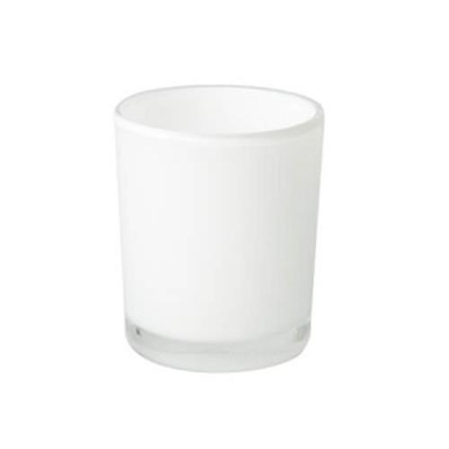 Oxford Opaque White Large Jars - 1 dozen.