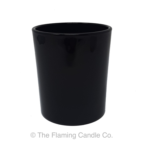 Oxford Opaque Black Large Jars - 1 dozen.