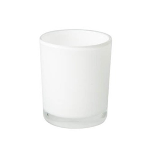 Oxford Opaque White Medium Jars - 1 dozen.