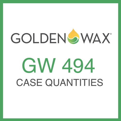 Golden Wax (GW) 494 Wax Melt and Tart Soy Wax - 50 lb. Case