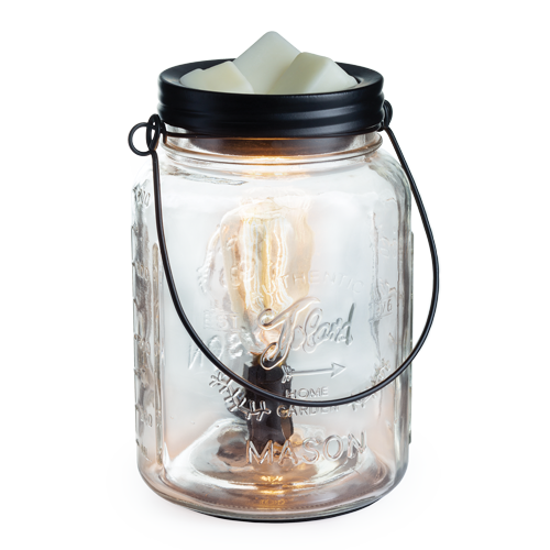 Glass Mason Jar Edison Tart Warmer