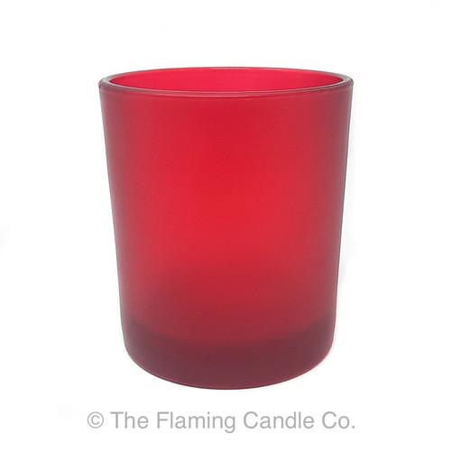 Oxford Red Matte Large Jars - 1 dozen.