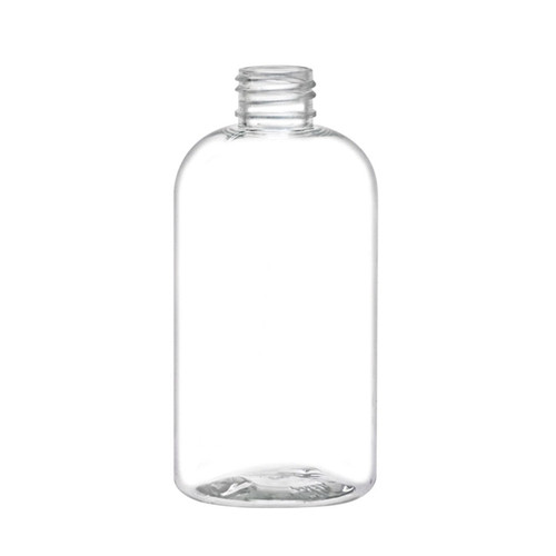 PET Boston Round Bottle - Clear- 8 oz.