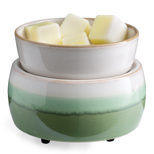 Matcha Latte Candle Warmer and Dish