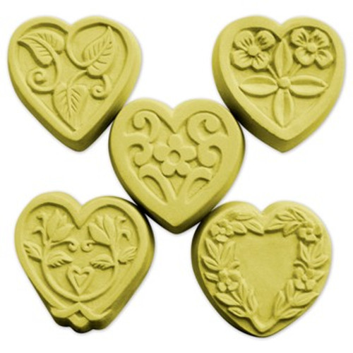 Guest 5 Hearts Soap Mold