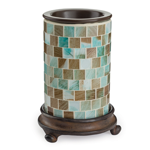 Mosaic Glass Tart Warmer - Sea Glass