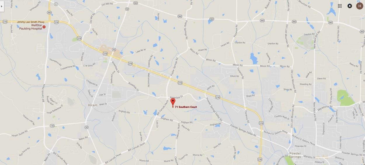 71 Southern Court, Hiram, GA.
