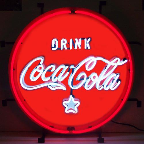 COCA-COLA RED, WHITE & COKE NEON SIGN