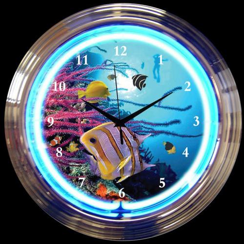 AQUARIUM NEON CLOCK