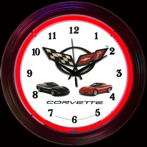 CORVETTE C5 NEON CLOCK