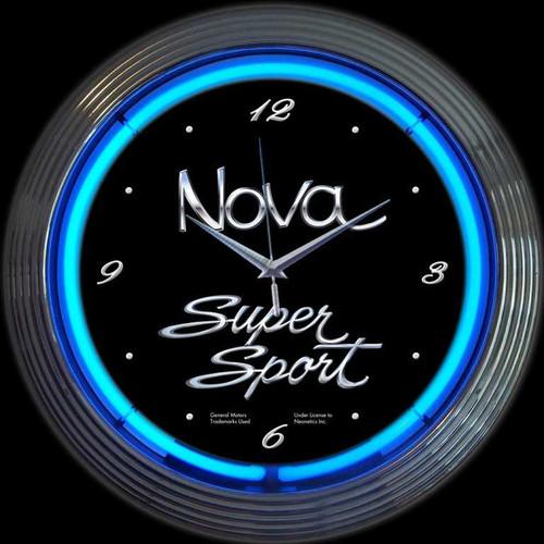 GM CHEVY NOVA NEON CLOCK