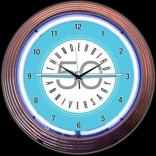 FORD THUNDERBIRD NEON CLOCK