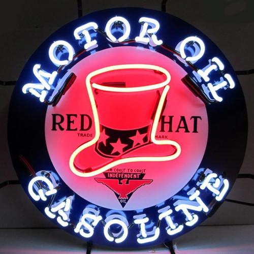 RED HAT GASOLINE NEON SIGN