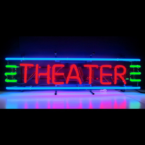 THEATER RED, GREEN & BLUE NEON SIGN