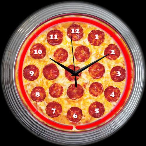 PIZZA NEON CLOCK