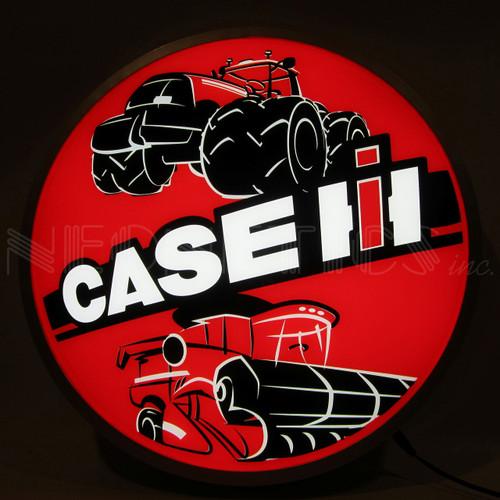 """CASE IH TRACTOR 15"""" BACKLIT LED LIGHTED SIGN"""