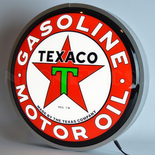 """TEXACO MOTOR OIL 15"""" BACKLIT LED LIGHTED SIGN"""