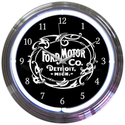 FORD MOTOR COMPANY NEON CLOCK