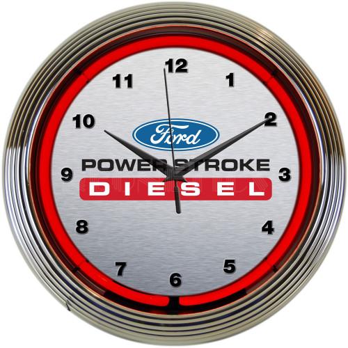 FORD POWER STROKE NEON CLOCK