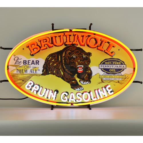 BRUINOIL BRUIN GASOLINE NEON SIGN