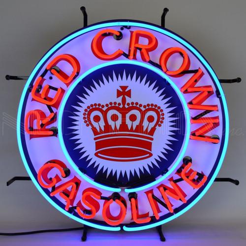 RED CROWN GASOLINE NEON SIGN