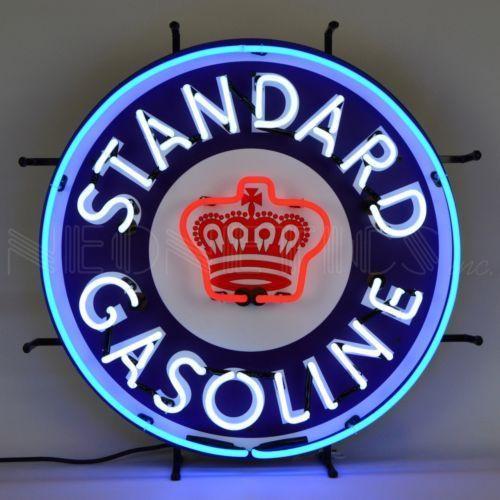 STANDARD GASOLINE NEON SIGN