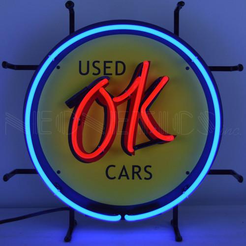 OK USED CARS JUNIOR NEON SIGN