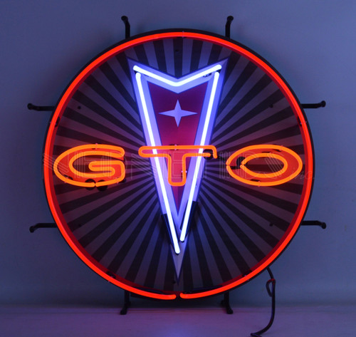 GTO NEON SIGN WITH BACKING