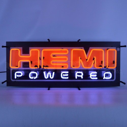 HEMI POWERED NEON SIGN WITH BACKING