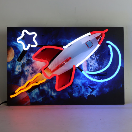 JUNIOR ROCKET OUTER SPACE NEON SIGN